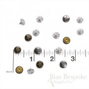 Set of 144 Single Star Rivets for Jeans