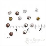 Set of 144 Plain & Simple Low-Profile Rivets for Jeans