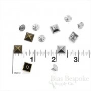 Set of 144 Pyramid Rivet Studs for Jeans and Outerwear