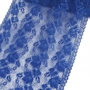 "12"" Wide Royal Blue Stretch Floral Lace"
