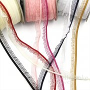 BETTY 17mm Semi-Sheer Ruffle Elastic, Made in Italy