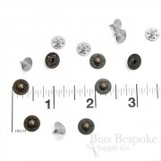 Set of 144 Classic-Style Tiny Dot Rivets for Jeans