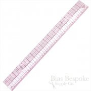 "18"" C-Thru Plastic Inch & Metric Ruler, Made in USA"