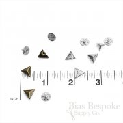 Set of 144 Triangle Rivet Studs for Jeans and Outerwear