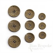 Chevron-Etched Buffalo Horn Buttons for Suits and Coats, Made in Italy