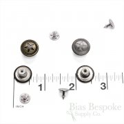 Classic 15mm Three Ring Star Jeans Buttons