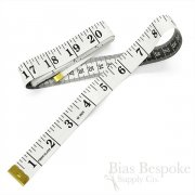 "Wide White 60"" Measuring Tape"