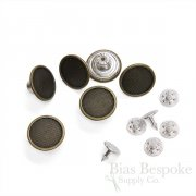 17mm Antique Brass Jeans Buttons with Mesh-Style Center