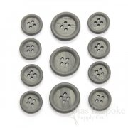Medium Gray Classic Wood-Look Suit Buttons, Made in Italy