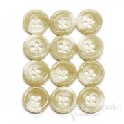 Blonde Horn-Effect Trouser Buttons, Made in Germany