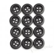 Modern Matte Black Trouser Buttons, Made in Germany