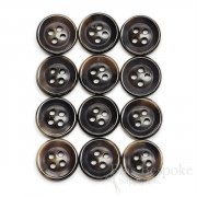 Deep Brown Buffalo Horn Trouser Buttons, Made in Germany