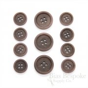 LUCA Classic Matte Fig Brown Corozo Suit Buttons, Made in Italy