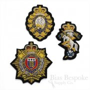 Large Bullion Wire Embroidered Badges