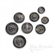 Multi-Hued Gray Blue Brown Genuine Horn Suit and Coat Buttons