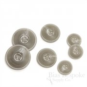 Matte & Double-Matte Gray Buttons for Suits and Coats, Made in Italy