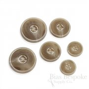 Matte & Double-Matte Tan Buttons for Suits and Coats, Made in Italy