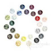 Luminescent Shirt Buttons in 25 Colors, Made in Italy