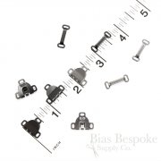 Sew-On Slim Metal Skirt Hooks and Bars, Regular Size, Made in Japan