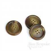 Classic Coffee Brown Horn-Effect Overcoat Buttons, Made in Germany