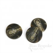 Matte Dark Brown Horn-Effect Overcoat Buttons, Made in Germany