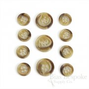 Classic Brown Sugar Tan Suit Buttons, Made in Germany