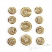 Classic Matte Tan Suit Buttons, Made in Germany