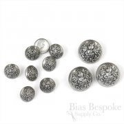 Antique Silver Knight's Armor Buttons, Made in Paris
