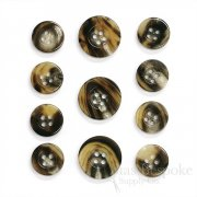 Sleek Tiger Brown Buffalo Horn Suit Buttons, Made in Germany