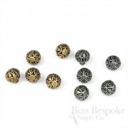 Tiny & Exquisite Filigree Ball Buttons, Made in France