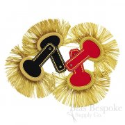 Military Uniform Epaulettes with Wool & Gold Bullion Fringe