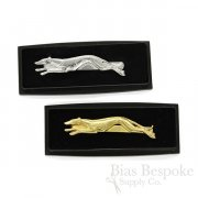 RACING Tie Bar with Greyhound Dog, Made in France