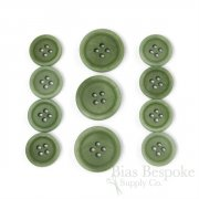 LUCA Classic Matte Stem Green Corozo Suit Buttons, Made in Italy