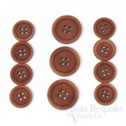 LUCA Classic Matte Terracotta Corozo Suit Buttons, Made in Italy