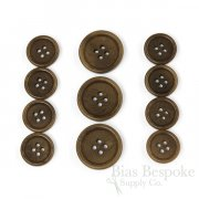 LUCA Classic Matte Coffee Brown Corozo Suit Buttons, Made in Italy