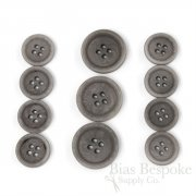 LUCA Classic Matte Dolphin Gray Corozo Suit Buttons, Made in Italy