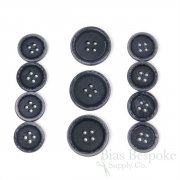 LUCA Classic Matte Navy Blue Corozo Suit Buttons, Made in Italy