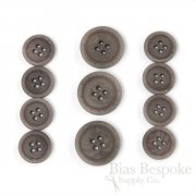 LUCA Classic Matte Pigeon Gray Corozo Suit Buttons, Made in Italy