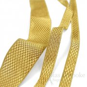 ZELENKA Checkered Metallic Gold Braid Trim, in Three Widths