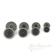 BRONKO Matte Dark Gray Buttons for Suits & Overcoats, Made in Italy