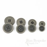 BRONKO Matte Medium Gray Buttons for Suits & Overcoats, Made in Italy