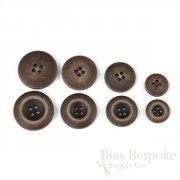 BLAKE Matte Dark Brown Vintage-Look Suit and Coat Buttons, Made in Italy