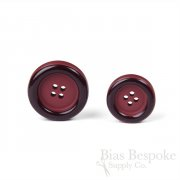 Thick, Classic Red Burgundy Overcoat Buttons in Two Sizes