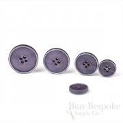 OLIN Lilac Purple Buttons with Narrow & Light Ridges, Made in Italy