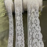 Delicate Cream Lace with Gold Foil, In Three Widths, Made in Spain