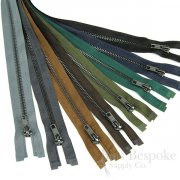 "20"" Length #5 Open End Zippers with Gunmetal Teeth, Bias Bespoke Brand"