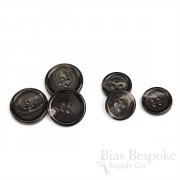 Classic Brown-Black Buffalo Horn Suit Buttons, Made in Germany