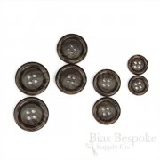 CHESHIRE Dark Brown Horn-Effect Suit and Overcoat Buttons, Made in Italy