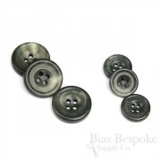VAUGHN Grayish Real Buffalo Horn Suit Buttons, Made in Italy