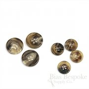 VAUGHN Brown Real Buffalo Horn Suit Buttons, Made in Italy